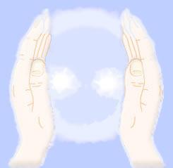 energetisierende Hände bei der Pranatherapie